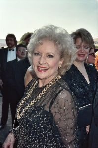 The universal old-lady haircut, as worn by the beautiful Betty White. (Photo by Alan Light)