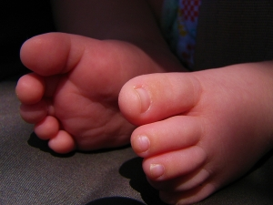 Baby toes. Just as good for kissing as you're imagining them to be. (Photo courtesy of Stock Exchange.)